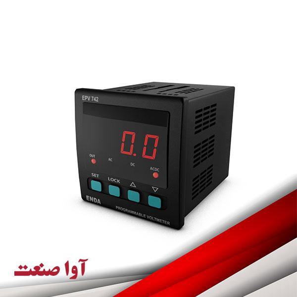 نمایشگر آمپرمتر ولتمتر اندا کد EPV742